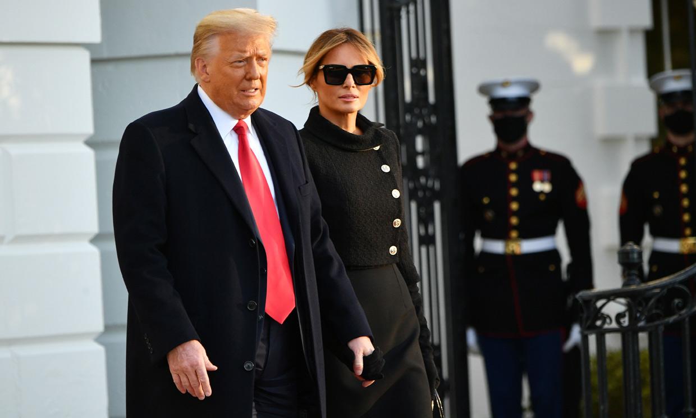 Un adiós cargado de simbología: Donald y Melania Trump abandonan la Casa Blanca