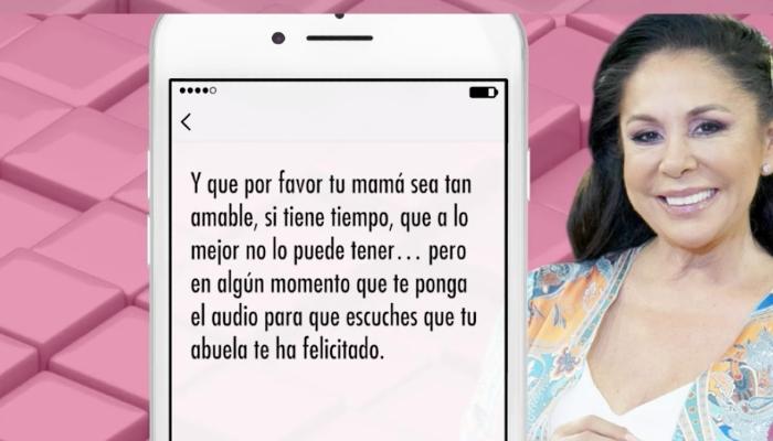 Mensaje de Isabel Pantoja