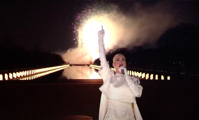 La imponente actuación de Katy Perry en investidura de Biden se hizo viral