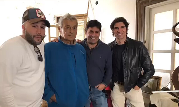 Kiko, Francisco y Cayetano Rivera con su tío Riverita