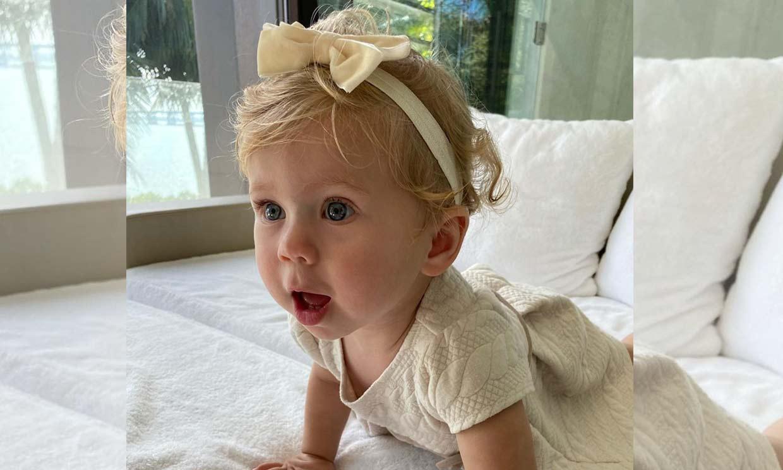 ¡Cómo ha cambiado! Mary, la hija de Enrique Iglesias y Anna Kournikova, cumple un año