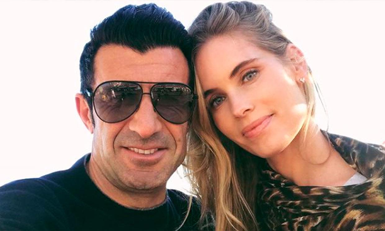 Luis Figo tiene una dura rival con el balón: su mujer, Helene Svedin