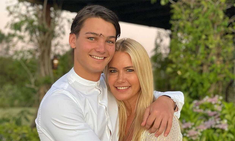 Tiziano, el hijo de Valeria Mazza representará a Argentina en el campeonato mundial de esquí alpino
