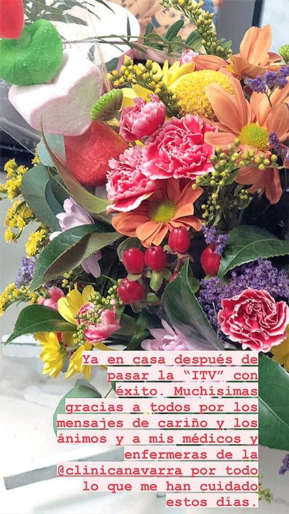 Sara Carbonero ramo flores