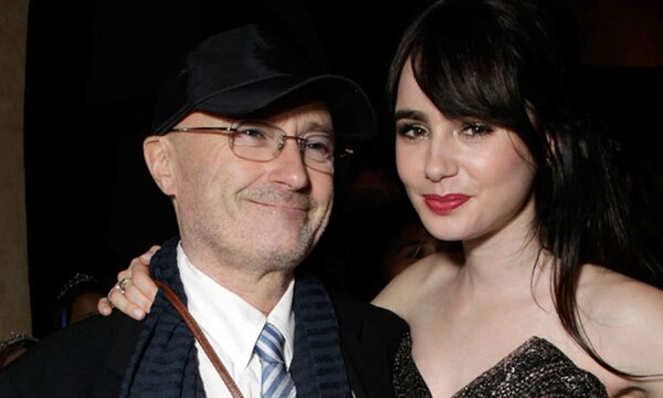Lily Collins junto a su madre Phil Collins