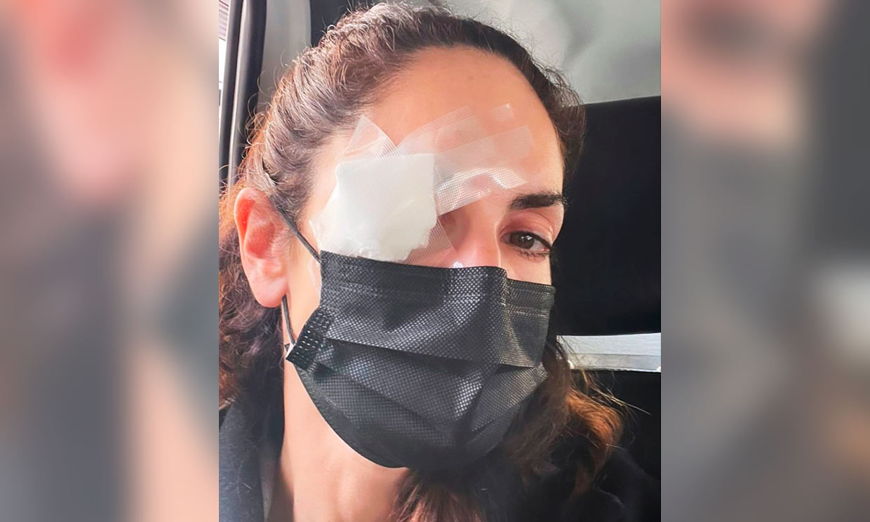 Eugenia Silva, operada de un ojo por 'pequeñas averías'