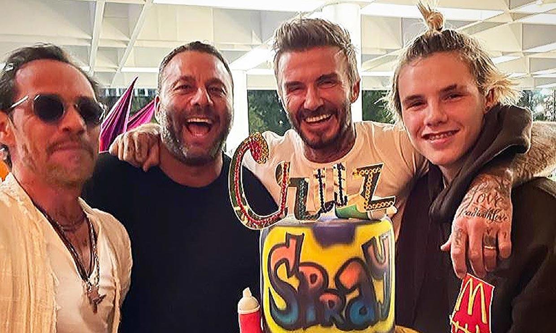 Cruz Beckham celebra su 16 cumpleaños acompañado de... ¡Marc Anthony!