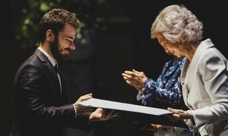 El motivo de esta foto de la reina Sofía con Pablo Díaz
