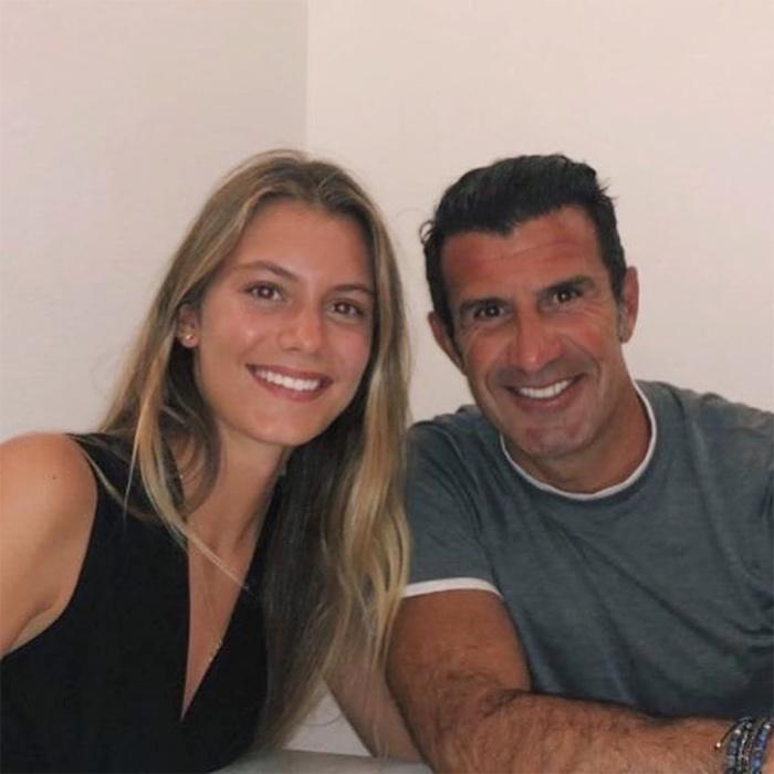 Luis Figo con su hija Martina