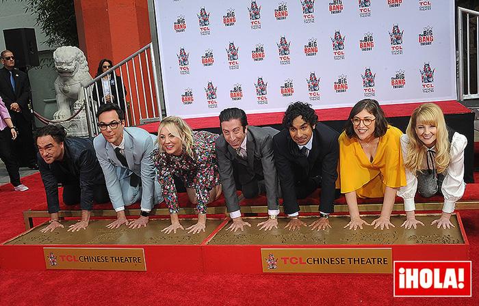 Kaley Cuoco y el reparto de Big Bang Theory