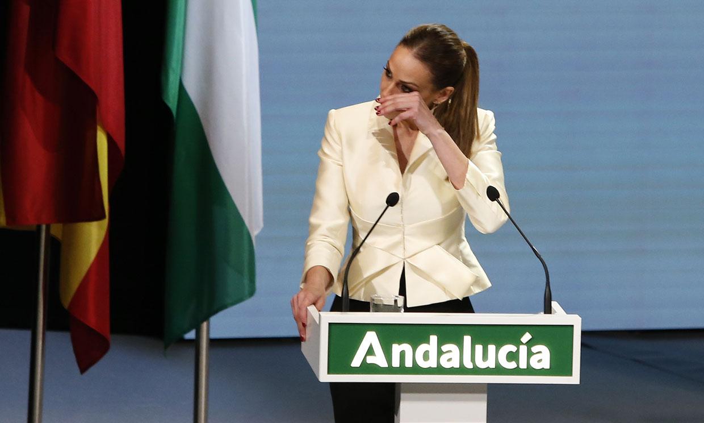 Las lágrimas de Eva González al presentar las Medallas de Andalucía