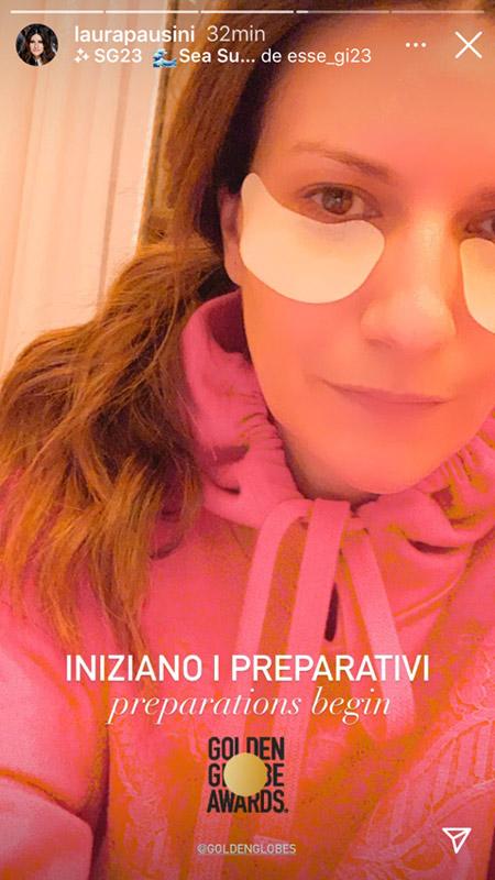 Feliz pero un poco nerviosa, Laura Pausini se prepara para los Globos de Oro, ¿conseguirá el premio?