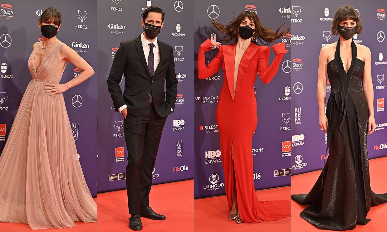 Glamour, ganas de celebrar y seguridad ante todo: la alfombra roja de los Premios Feroz