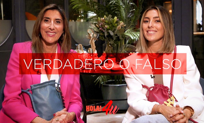 ¿Verdadero o falso? Paz Padilla y su hija Anna se someten al test más divertido