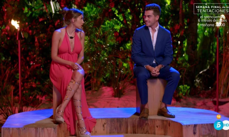 Jesús y Marina se van solos de 'La isla de las tentaciones 3', pero ella promete ir a buscar a Isaac