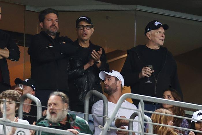 Chris Hemsworth con Russell Crowe