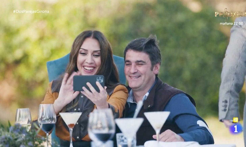 Jesulín de Ubrique saca su lado más fan con Mónica Naranjo para mandar un vídeo a su mujer