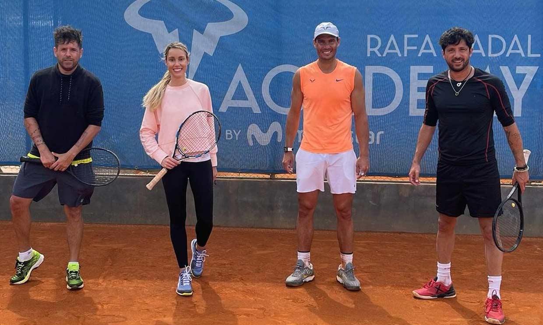 'Preparando el dobles de Roland Garros', el partido de Maribel y Rafa Nadal con Pablo López y su hermano