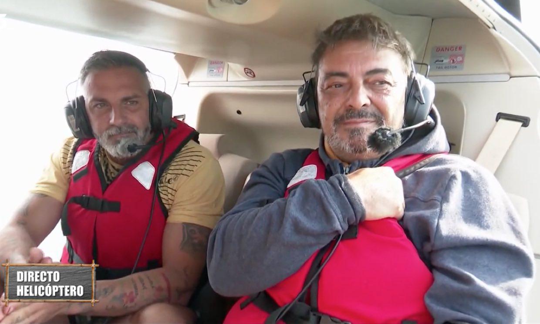 Antonio Canales salta del helicóptero de 'Supervivientes' y abandona el mal ambiente del barco encallado