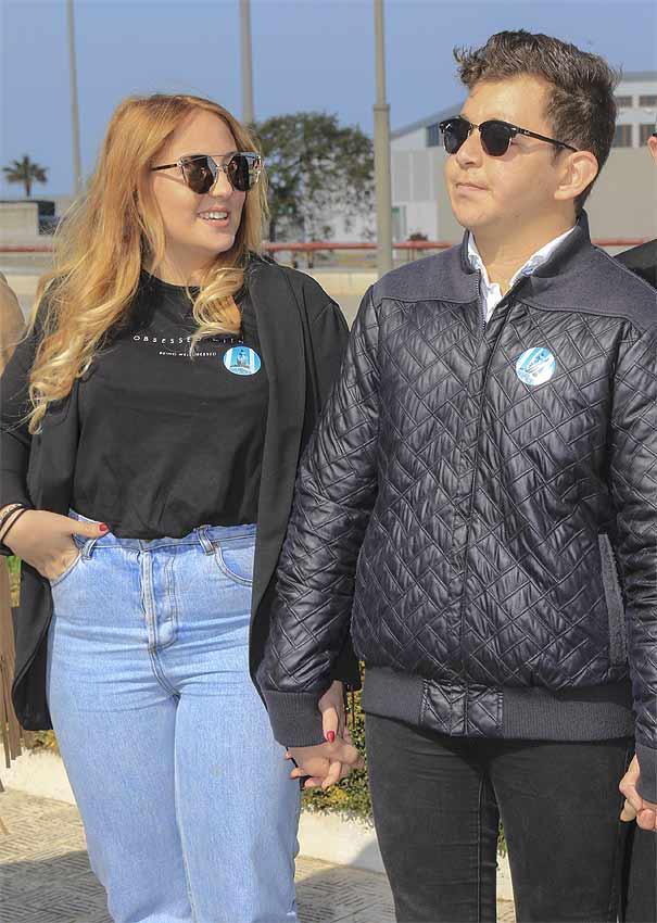 Rocío Flores y su hermano David