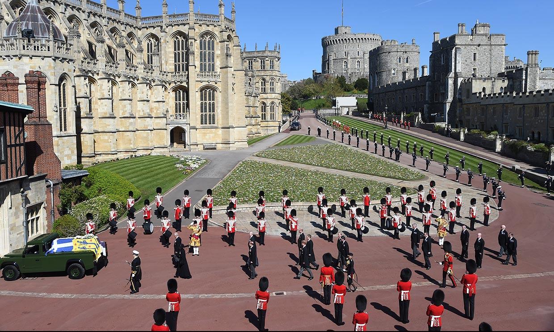 Estos son los cuerpos militares que han rendido homenaje a Felipe de Edimburgo