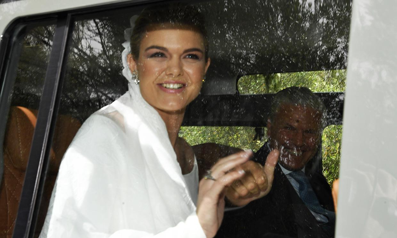 La gran sonrisa de Alejandra Ruiz de Rato en sus primeras imágenes vestida de novia