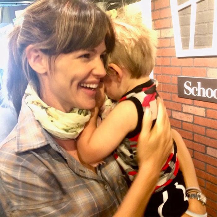 Jennifer Garner with her son Samuel