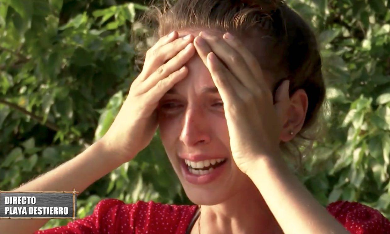 Palito Dominguín rompe a llorar al escuchar en directo la historia de superación de su prima Berta
