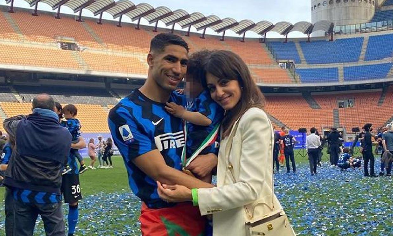 Amín, el mejor trofeo para Achraf Hakimi e Hiba Abouk en la celebración del Inter de Milan