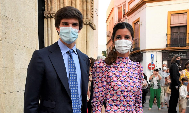Los condes de Osorno reaparecen en el bautizo de su sobrina una semana después de su boda