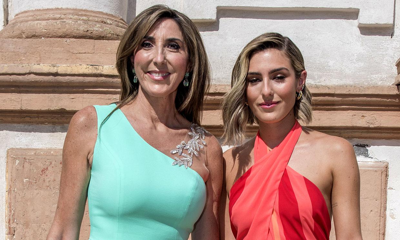 Paz Padilla y su hija asisten en Sevilla a la boda de su amigo José Antonio León