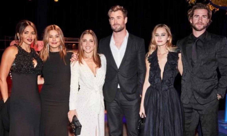 Elsa Pataky y Chris Hemsworth, cena solidaria en familia y una presentación en sociedad