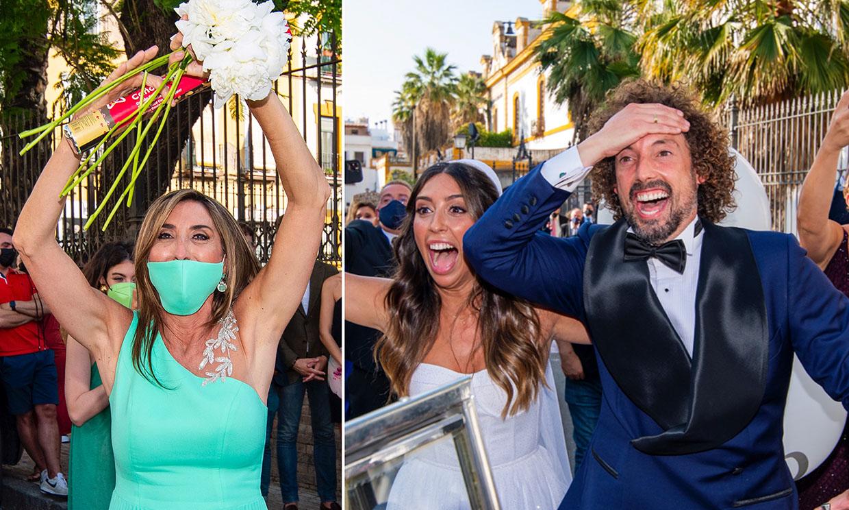 ¡Paz Padilla coge el ramo de la novia! Descubre todos los detalles de la boda de José Antonio León