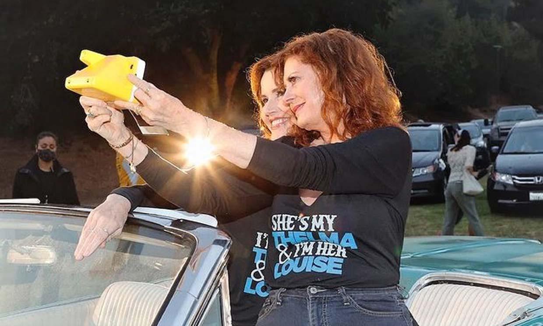 Susan Sarandon y Geena Davis, juntas para celebrar 30 años de 'Thelma & Louise': 'nosotras inventamos el selfie'