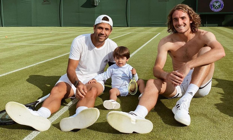 ¡De Roland Garros a Wimbledon! Miguel, el hijo de Ana Boyer y Fernando Verdasco, uno más en la pista