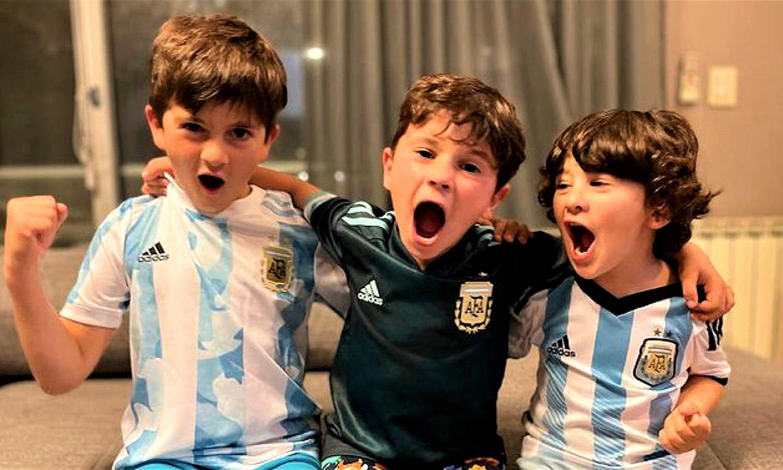 Los tres hijos de Messi le dedican una canción a su padre mientras corean su victoria en la Copa América
