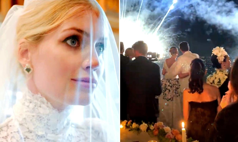 Cinco vestidos y una fiesta con fuegos artificiales: la exclusiva boda de Lady Kitty Spencer en Roma