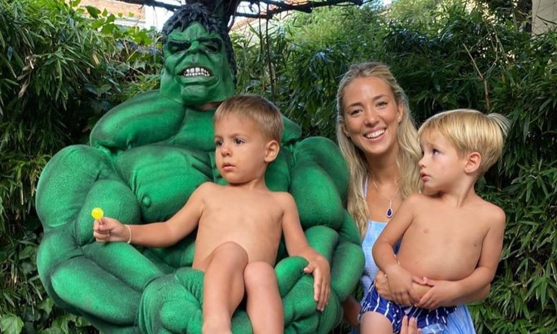 Álvaro Morata se convierte en el mismísimo Hulk para la impresionante fiesta de sus mellizos