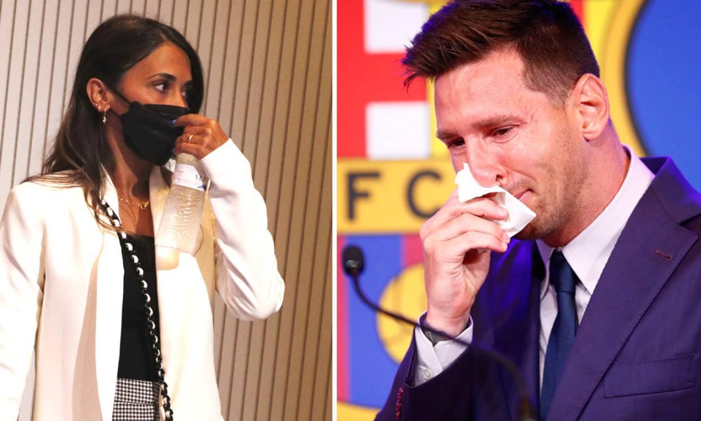 Messi, arropado por su mujer Antonela y sus tres hijos en su adiós al Barça entre lágrimas