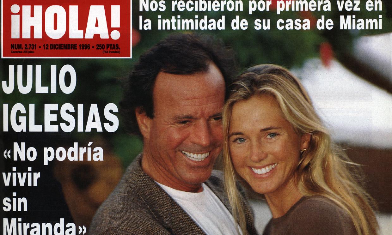 Julio Iglesias y Miranda, de Yakarta a la boda que solo ¡HOLA! vio