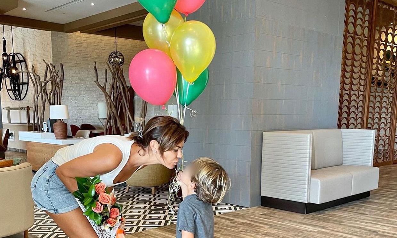 La espectacular fiesta de María José Suárez a su hijo Elías por su 4º cumpleaños rodeado de todos sus primos
