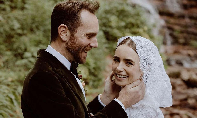 Lily Collins se casa en un paraje 'mágico' un año después de su compromiso