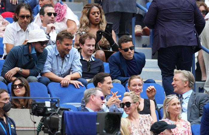 Brad Pitt and Bradley Cooper say hello to Alec Baldwin