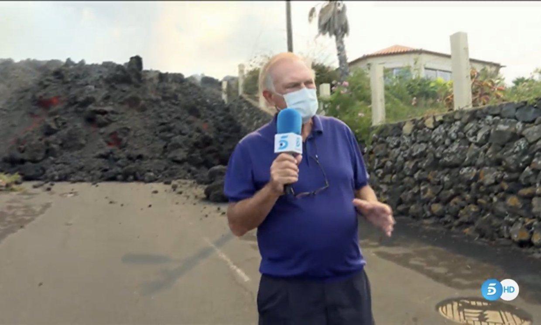 Pedro Piqueras y Carlos Franganillo, de presentadores a reporteros en La Palma