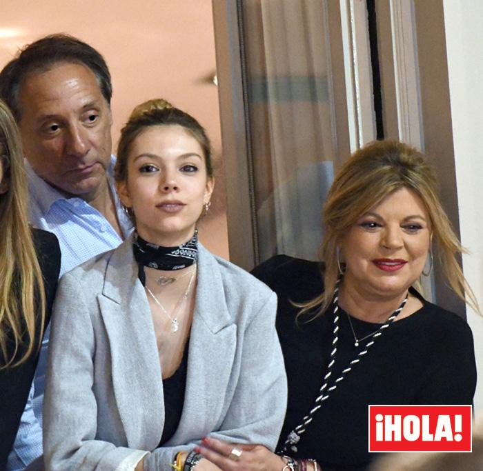 Terelu Campos y Alejandro Rubio con su hija Alejandra