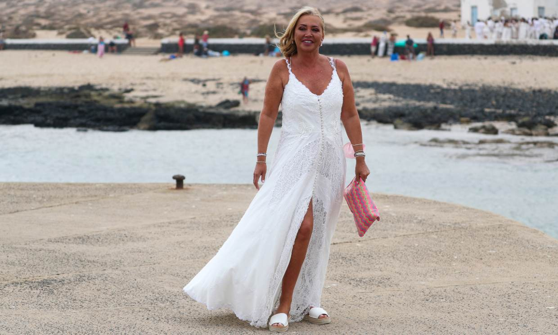 Belén Esteban, afectada por la travesía en barco para llegar a la boda de Anabel Pantoja