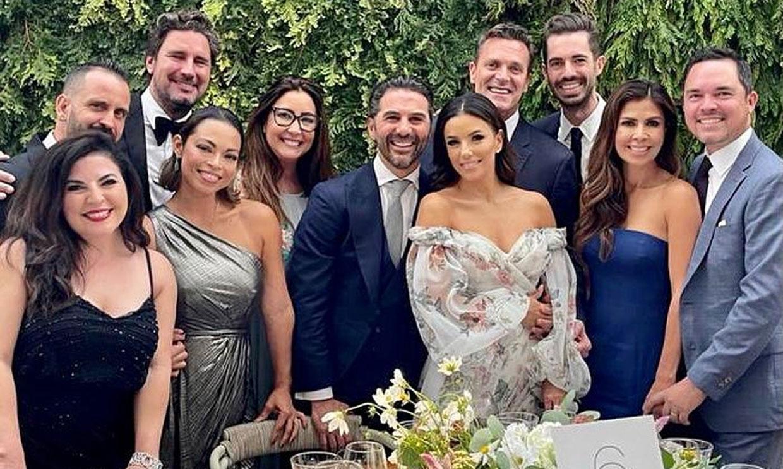Eva Longoria asiste emocionada a la boda de su hijastra
