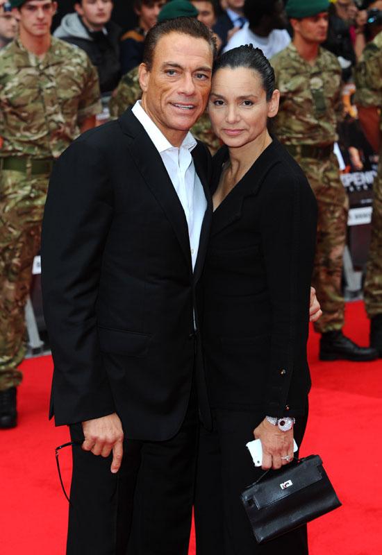 Jean-Claude Van Damme y Gladys Portugues