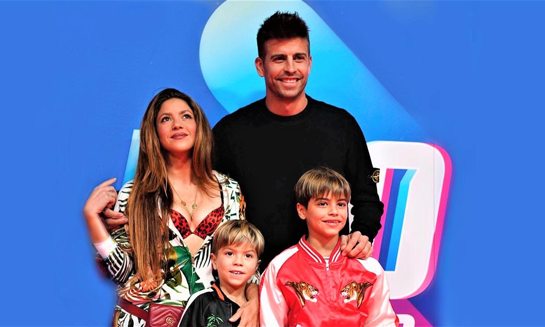 El divertido partido de globos de los hijos de Shakira con Piqué como árbitro, ¿quién ganará?