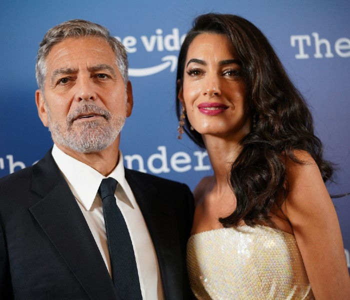 George Clooney and his wife, Amal Clooney